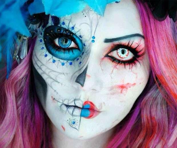 trucco halloween teschio ;)