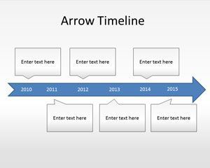 Free arrow timeline PowerPoint template helps demonstrate the major breakthroughs of your business #Timelines #PowerPoint