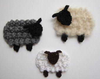 1pc Crochet SHEEP Applique