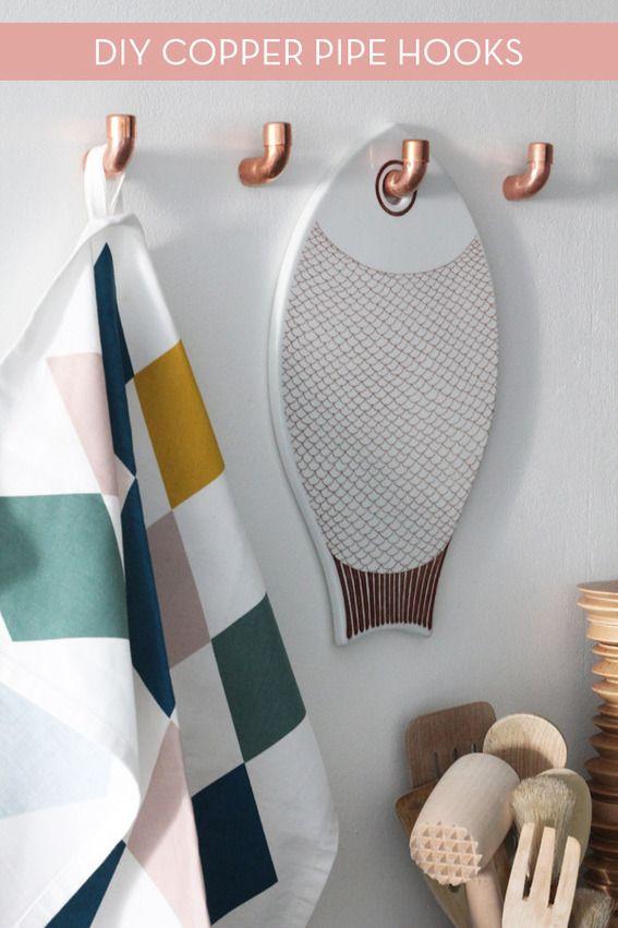 Make It: DIY Copper Plumbing Pipe Wall Hooks » Curbly | DIY Design Community