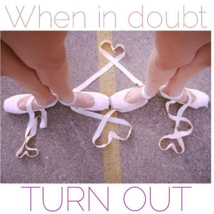 When in doubt, turn out!!!!! So cute!!