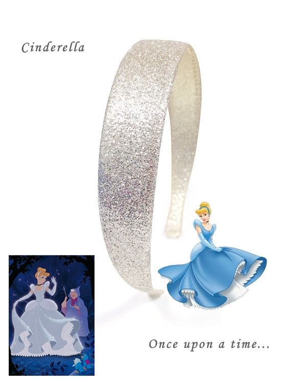 Cinderella Party Costume Ideas Glitter Headband// by DazzleLand