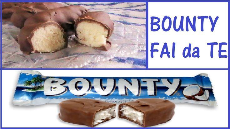 Bounty Fatto in Casa - Dolcetti al Cocco ricoperti di Cioccolata