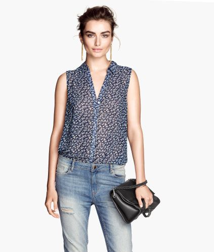 Sleeveless blouse | Product Detail | H&M 7.99