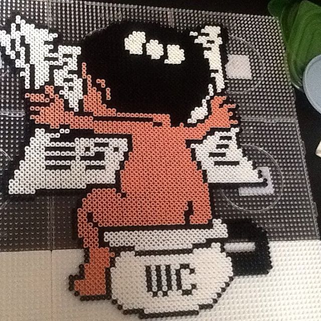WC -Toilet hama beads by tinahendriksen