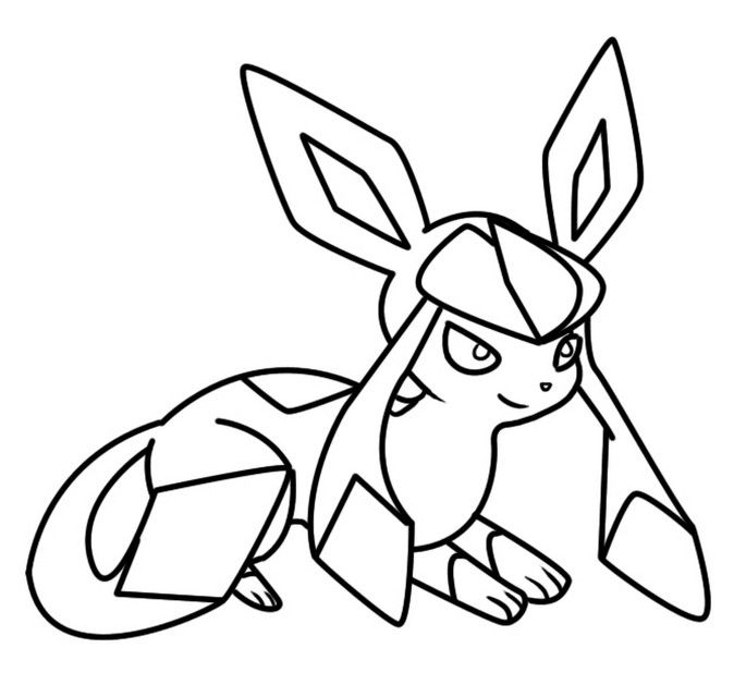 Glaceon Eevee Evolutions Coloring Pages Pokemon Coloring Pages Coloring Pages Halloween Coloring Book