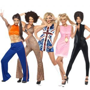 Group: Spice Girls Geri, Posh, Sporty, Scary and Baby fancy dress costumes  (Upto Plus Size 18) Great deal on all five costumes