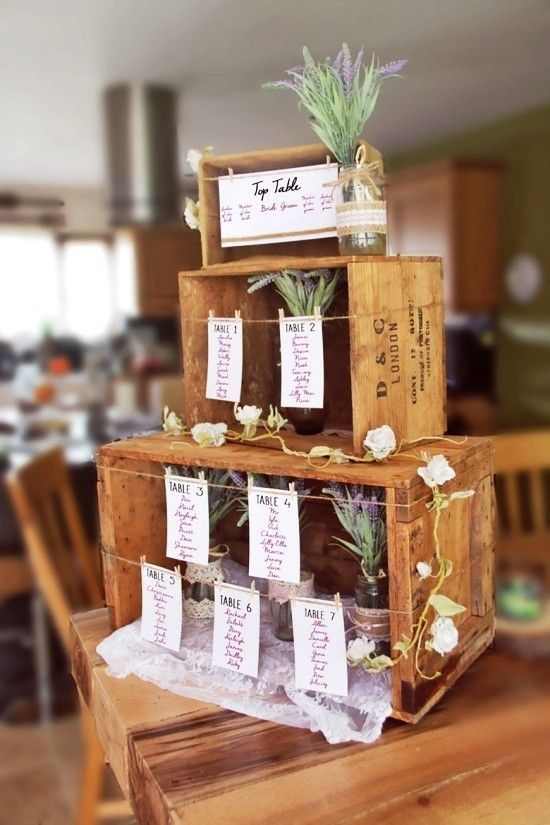 75 boîtes de fruits Idées de décoration pour un mariage rustique