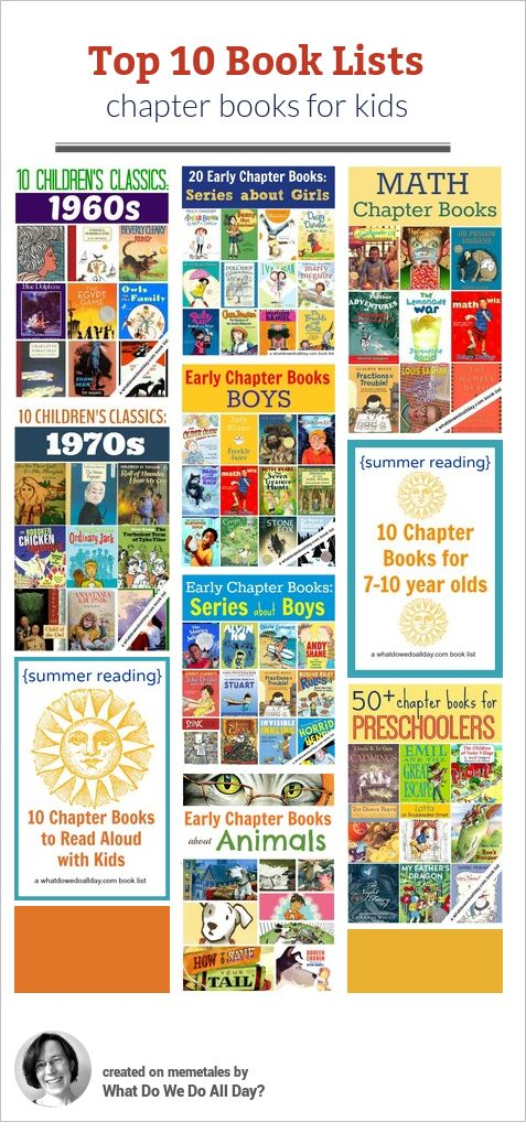 Great collection of chapter book lists for kids.