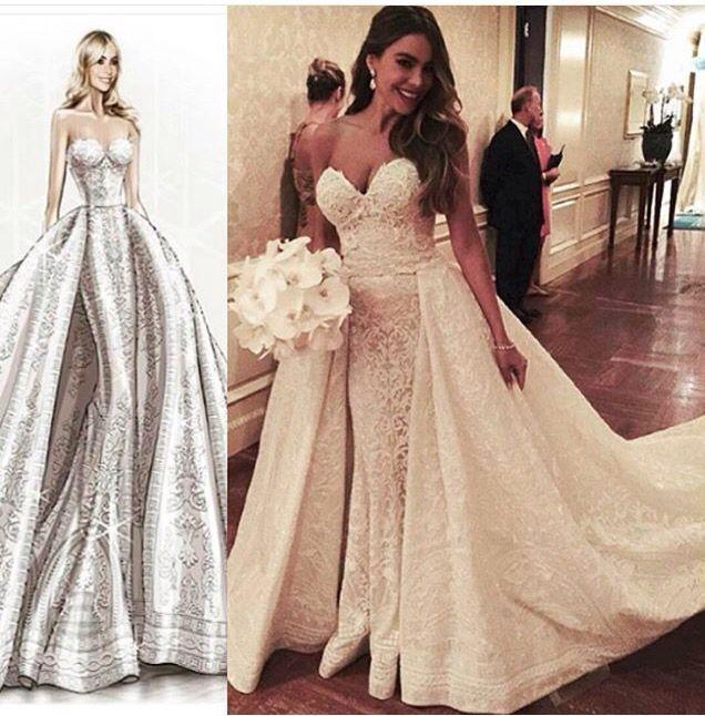 De dubbele rok is een voorspelling van een trend in 2016. Deze rok/ jurk is erg bekend geworden toen de trouwfoto's van Sophia Vergara verschenen.  #wedding #love #trouwen #bruiloft #inspiratie #inspiration