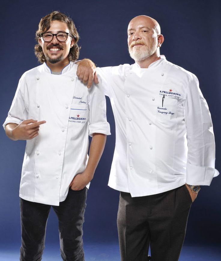 Daniel Nates y el chef Gerardo Vázquez Lugo