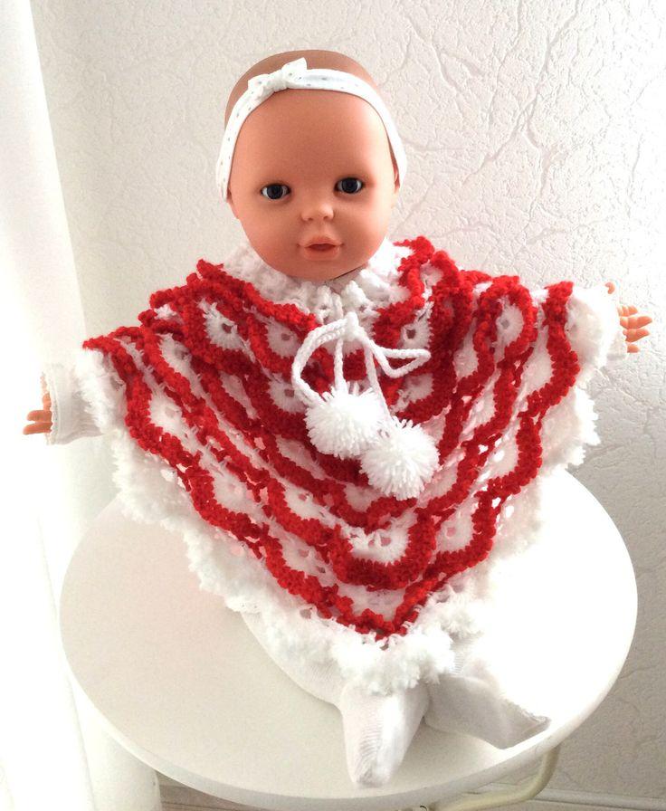 Blij om mijn nieuwste toevoeging aan mijn #etsy shop te kunnen delen: Limited Edition! Babyponcho, Sinterklaas cadeau, baby kleding, Kerst cadeau baby outfit,ponchobaby meisje, gehaakt, baby6-18mnd. Babyuitzet #limitededition #sinterklaascadeau #babykledinggehaakt #kerstcadeau #kerstbabyponcho #babyuitzet #kinderen #kleding #babyponchopompoen