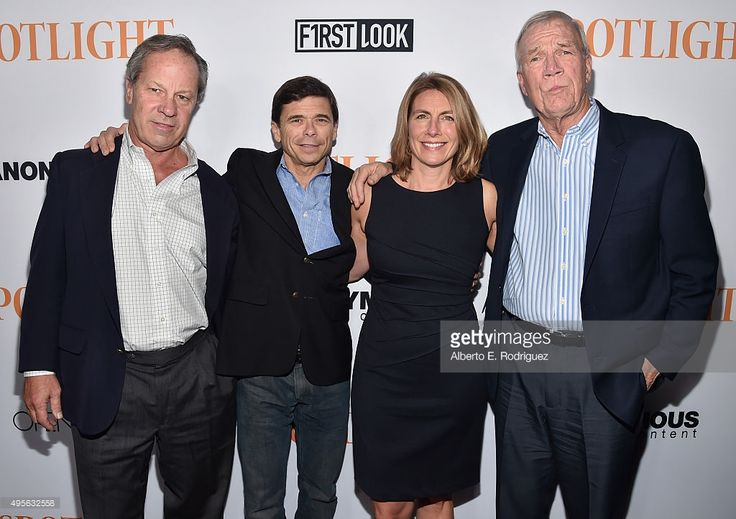 Journalists Ben Bradlee, Jr., Michael Rezendes, Sacha Pfeiffer and Walter Robinson attend a Special Screening of Open Road Films' 'Spotlight' at The DGA Theater on (November 3, 2015) in Los Angeles, California.