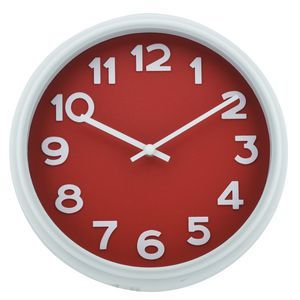 Red #officeworks clock  something for the blank bland walls