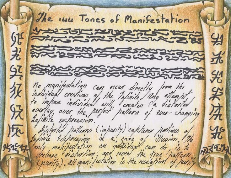 144 tones of Manifestation
