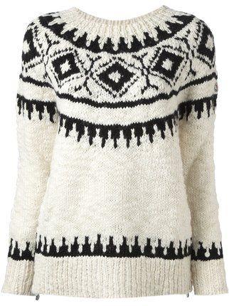 Moncler fair isle sweater