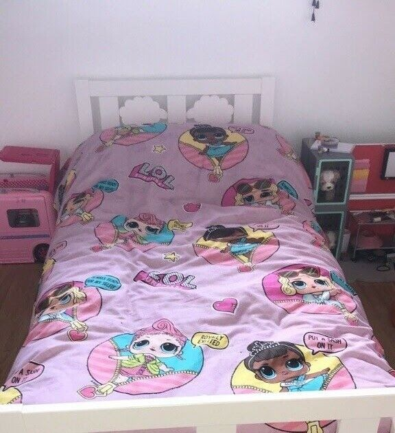 White Ikea Toddler Bed In Dundee Gumtree Details About Ikea Toddler Bed With Mattress And Bedding Sheets If Ne Toddler Bed Sheets Ikea Toddler Bed Toddler Bed