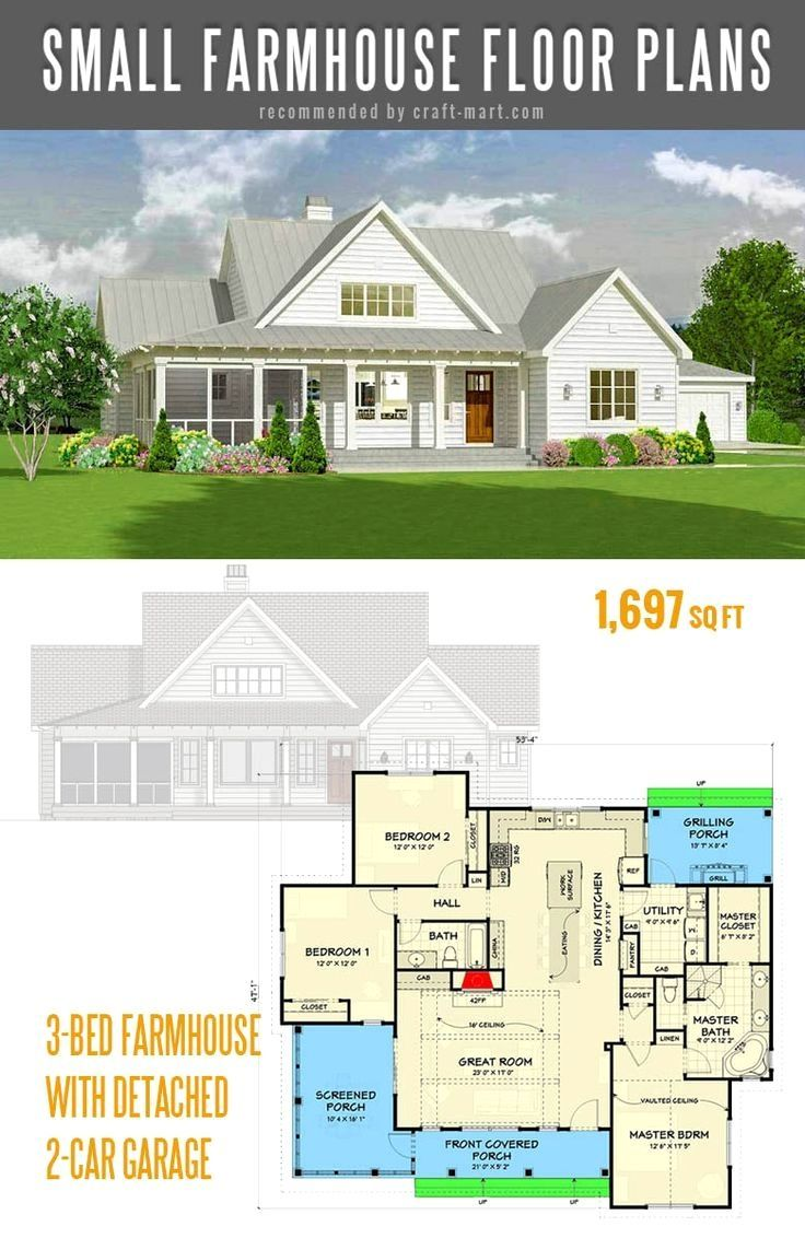Pin By Ashlee Sims On Plans In 2020 Simple Farmhouse Plans Modern Farmhouse Plans Craftsman House Plans