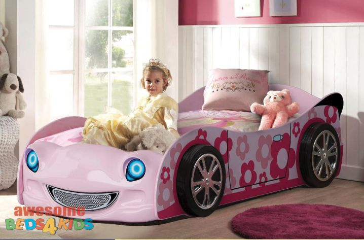 Victoria Car Bed. Awesome girls car bed. #girlsbed #carbeds #awesomebeds4kids