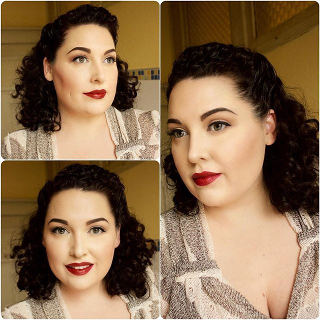 Vintage Styling for Naturally Curly Hair. .                                                                                                                                                                                 More