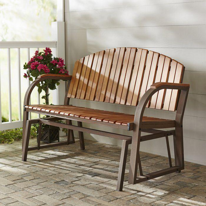 Nicholson Slat Glider Bench Patio Rocking Chairs Rocking Chair Porch Outdoor Rocking Chairs