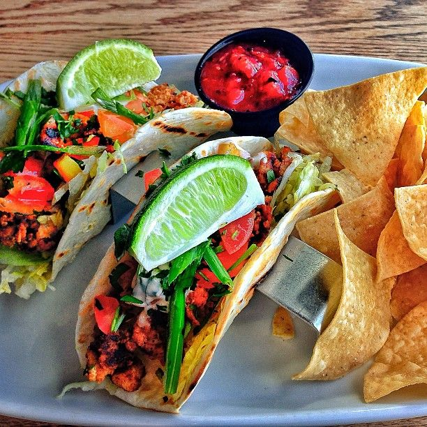 Photo by corasevilla - #ojsmenu my favourite item at original joes the long beach fish( mahi mahi) tacos get em as a #starter or #entrée light n refreshing great with the #valentina hot sauce they've got #yum #fishtacos
