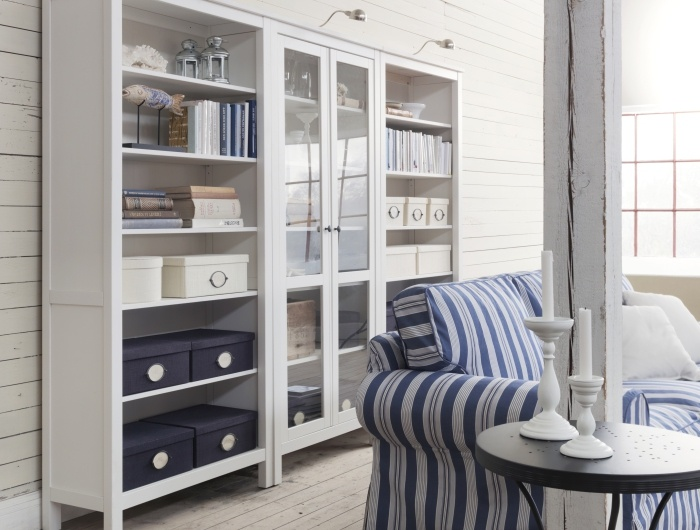 Ikea Trofast Wooden Shelves ~ HEMNES bookcases are solid wood, with four adjustable shelves and one