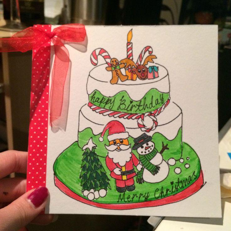 Birthday & Christmas card for my friend