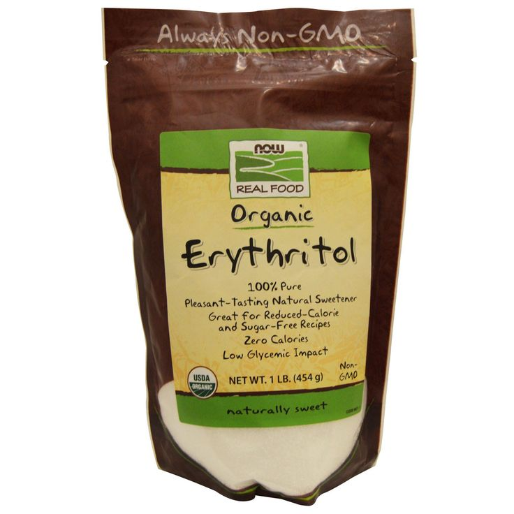 Now Foods, Real Food Organic, Erythritol, Naturally Sweet, 1 lb (454 g)