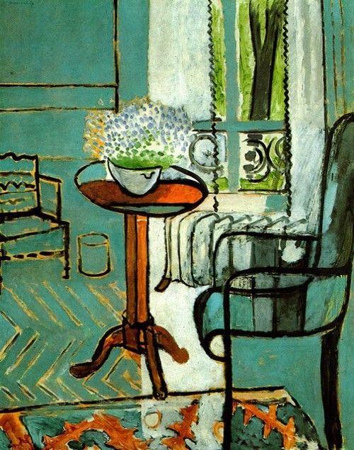 Matisse. Let hier op de contourlijnen die Matisse gebruikt. Er is verschil in lijndikte