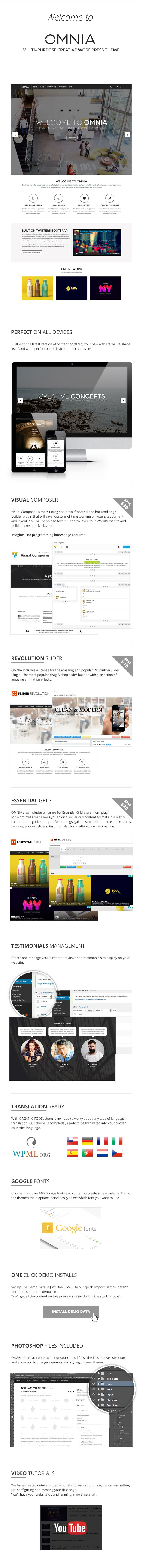 WordPress - OMNIA - Multipurpose, Creative Wordpress Theme | ThemeForest