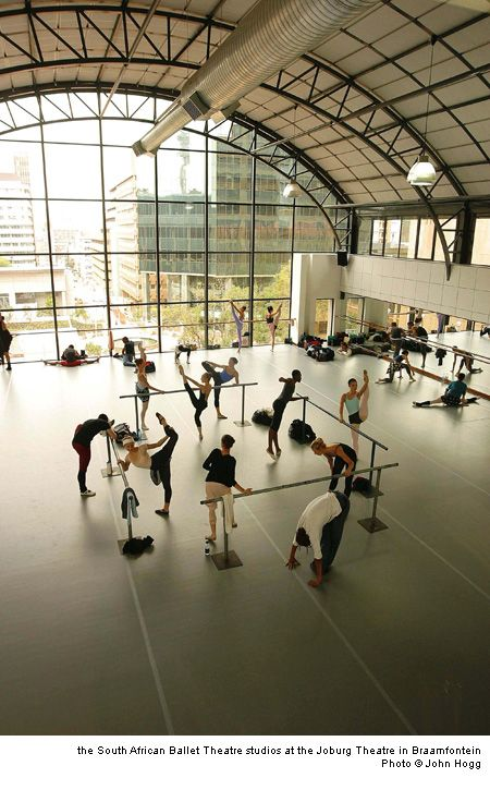 lovely studio - south african ballet theatre -  I think if I were able to dance here, I would weep with the joy of it.