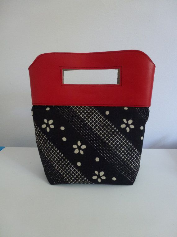 Red Leather Clutch by JacquiInc on Etsy
