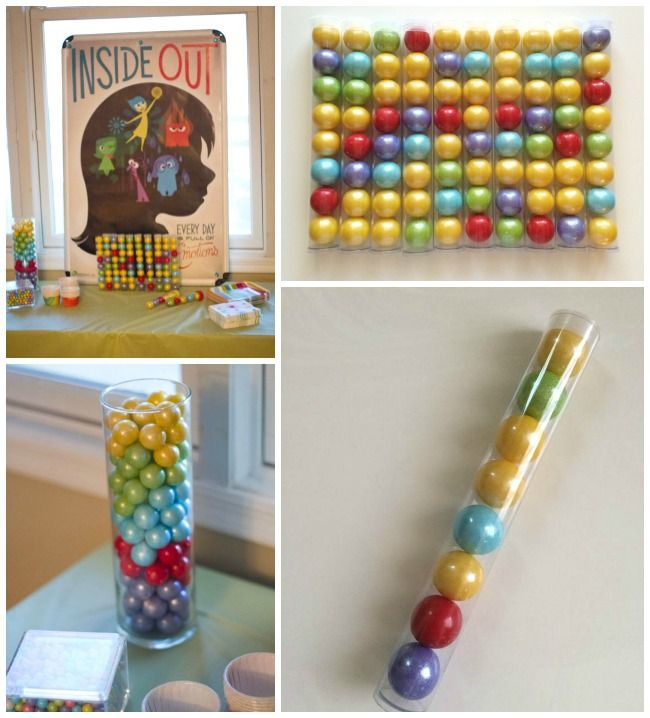 Inside Out Emotions Party - My Insanity. Memory Gumball Party Favors.