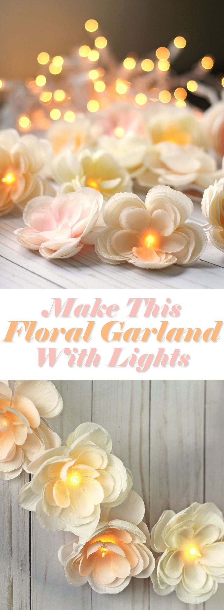 DIY Floral Garland With Lights – sandra.mdsp .E