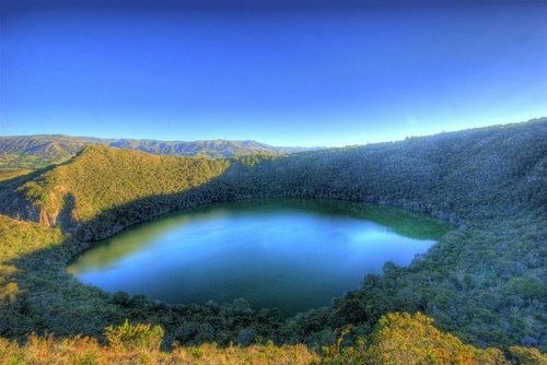 "Laguna de Guatavita... The place where ""El dorado"" legend was based on.... They say it underneath the lake."