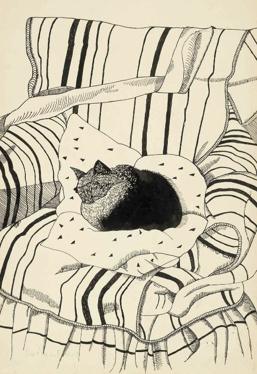 Lucian Freud (b. 1922) The Sleeping Cat