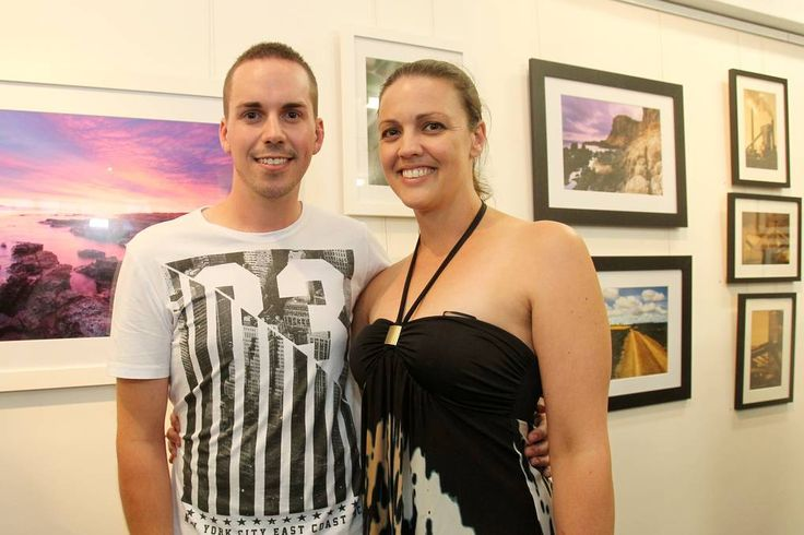 Cameron Winter and Nerida Brain at the TAFE Illawarra photography exhibition launch.