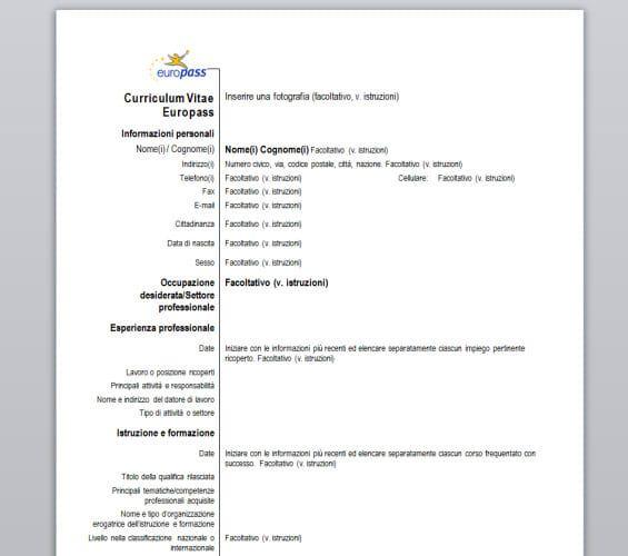 Curriculum Vitae Europeo Con Imagenes Modelos De Curriculum