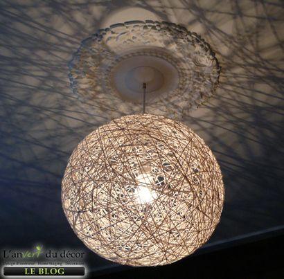 Boule abat-jour en fil Crédit photo: L'An Vert du Décor