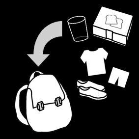 sporttas inpakken / gymtas inpakken