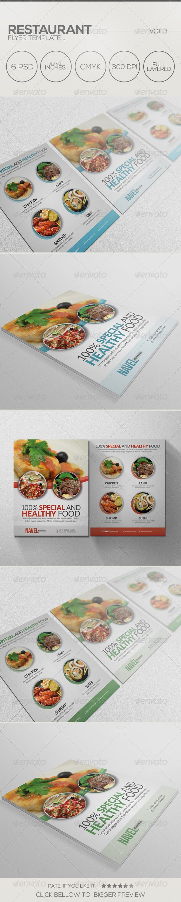 A great flyer template for Restaurant or Business Company These templates can also be used for a magazine advert or used as an online flyer as a PDF file. these flyers are perfect for programmers, IT company,Photographer¡¯s gallery, Business company.File Incl