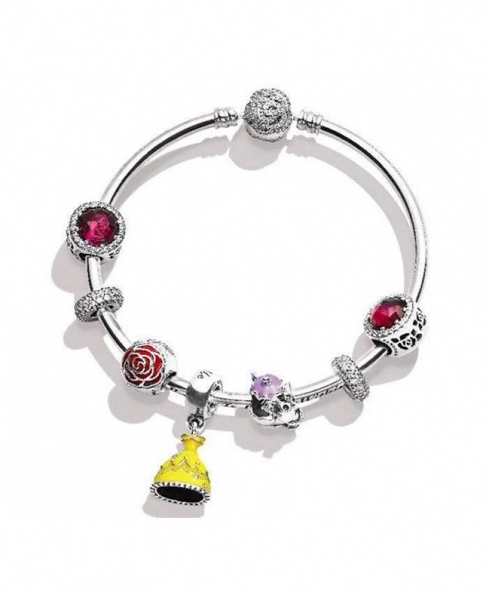 bas prix f6e40 5ee17 Pas Cher Pandora Disney La Belle et La Bête Bracelet Soldes ...