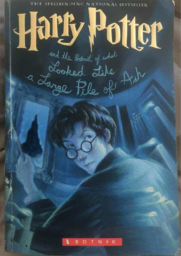Harry Potter And The Portrait Of What Looked Like A Large Pile Of Ash Harry Potter Book Covers Harry Potter Potter