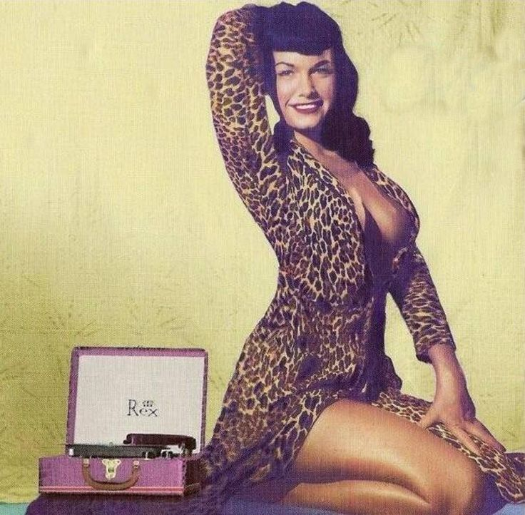 Bettie Page. oh yeah, and a record player.
