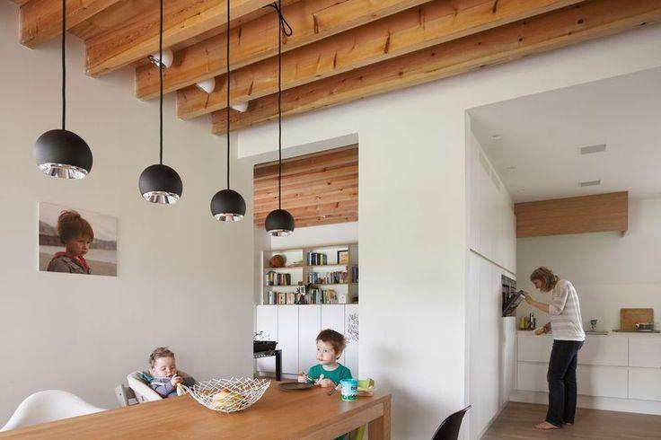 Cette maison passive a été construite avec goût et dans une philosophie de bricolage
