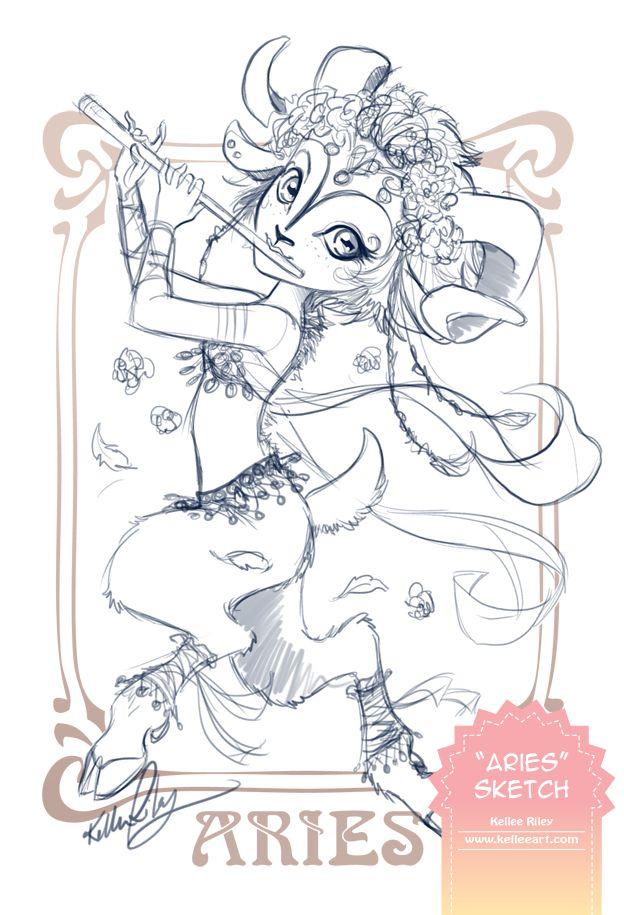 Aries Sketch by KelleeArt