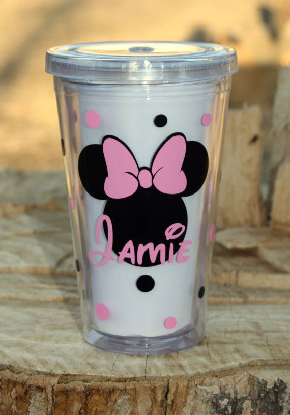 Personalized Disney Name Acrylic Tumbler with Straws - BPA Free
