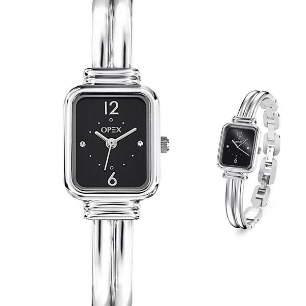 Opex zet je op de kaart met dit zilveren horloge met kleine zirkonia steentjes op de wijzerplaat.
