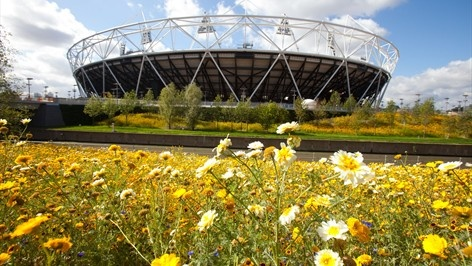 Pic: 4 days to go! The sun is shining on the Olympic Stadium, the sky is blue and the flowers are in bloom #London2012 @London2012 pic.twitter.com/VTzLjX74: London2012, Olympics Stadiums, Olympics Games, London 2012, 2012 Olympics, Summer Games, The Games, London Olympics, Olympics Parks